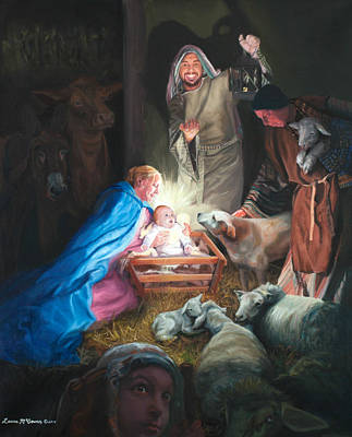 Painting - The Nativity by Sister Laura McGowan