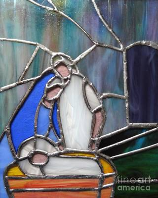 Glass Art - The Nativity  by Karen Jane Jones