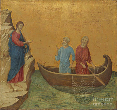 Ezekiel Painting - The Nativity With The Prophets Isaiah And Ezekiel by Celestial Images