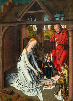 Painting - The Nativity by Workshop of Hans Memling