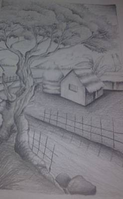 Master Piece Drawing - The Natural by Joni Mazumder