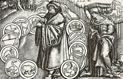 Boethius Drawing - The Natural Sciences In The Presence Of by Vintage Design Pics