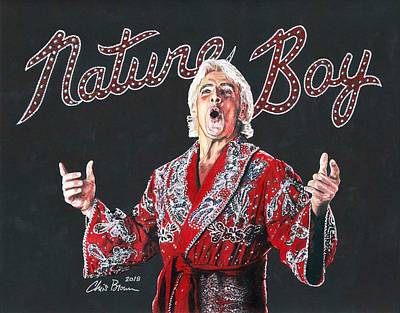 Drawing - The Nature Boy, Ric Flair by Chris Brown