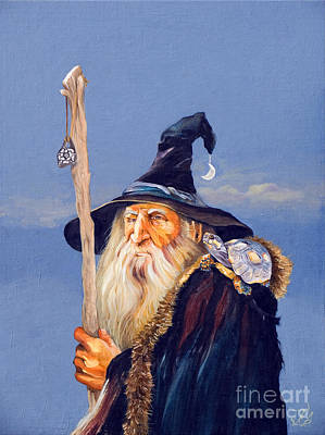 Shamanism Painting - The Navigator by J W Baker