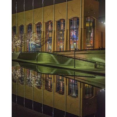 Reflection Wall Art - Photograph - The Ncaa Head Quarters On The Indy by David Haskett II