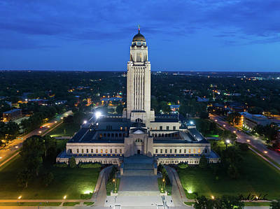 Photograph - The Nebraska State Capitol Building by Mark Dahmke