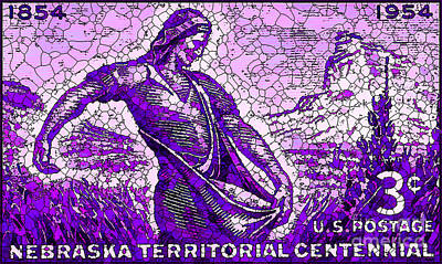 The Nebraska Territory Stamp Art Print