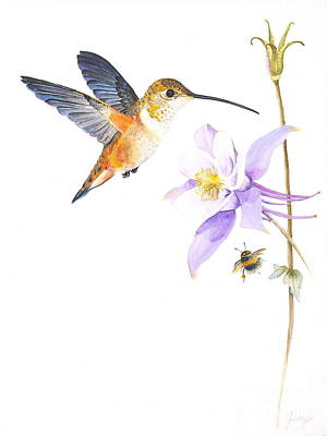 Painting - The Nectar Hunt by Jany Schindler