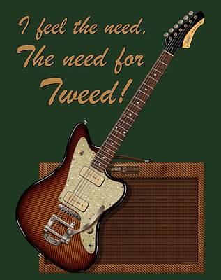 Digital Art - The Need For Tweed T Shirt by WB Johnston