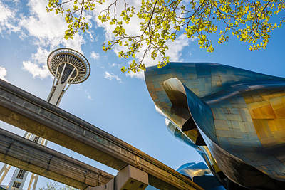Photograph - The Needle, The Curves And Monorail by Mark Robert Rogers