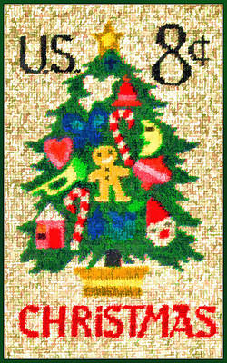 Needlepoint Painting - The Needlepoint Tree Stamp by Lanjee Chee