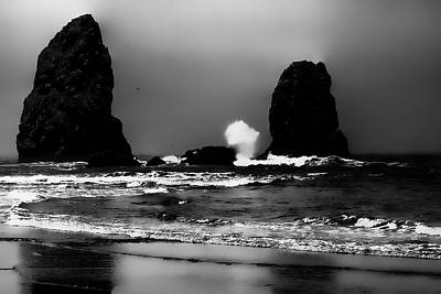 The Needles At Haystack Rock II Art Print