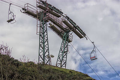 Gb Photograph - The Needles Chair Lift by Martin Newman