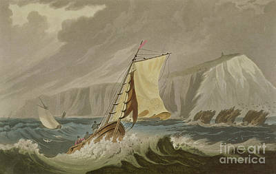 Of Pirate Ship Painting - The Needles by Frederick Calvert