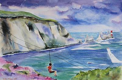 Painting - The Needles Isle Of Wight In England  by Geeta Biswas