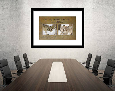 Photograph - The Negotiation Process Simplified - On Display by Gary Slawsky