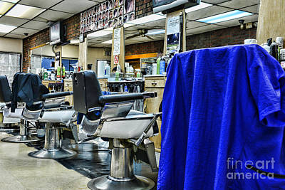 Electric Razor Photograph - The Neighborhood Barbershop by Paul Ward