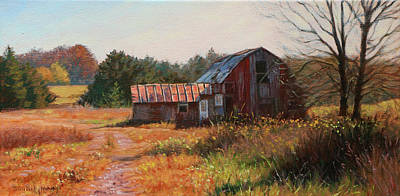 Painting - The Neighbor's Barn by Bonnie Mason