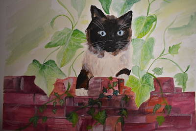 Painting - The Neighbors Cat by Susan Voidets