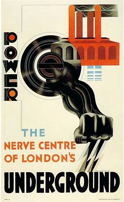 London Tube Mixed Media - The Nerve Centre Of London's Underground - Retro Travel Poster - Vintage Poster by Studio Grafiikka