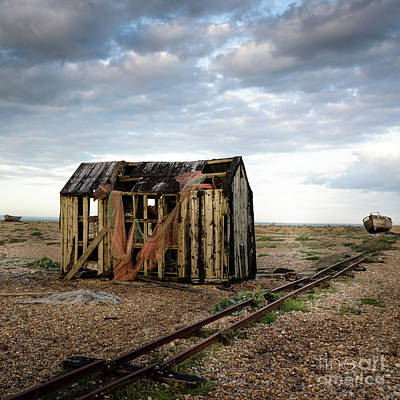 Photograph - The Net Shack, Dungeness Beach by Perry Rodriguez