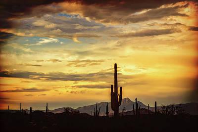 Photograph - The Never Ending Beauty Of A Desert Sunset  by Saija Lehtonen