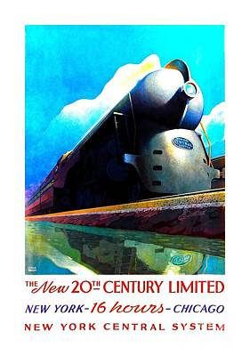 The New 20th Century Limited New York Central System 1939 Leslie Ragan Art Print by Peter Gumaer Ogden Collection