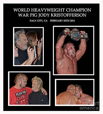 Photograph - The New A P W World Heavyweight Champion War Pig Jody  by Jim Fitzpatrick