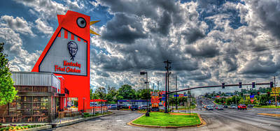 Pucketts Photograph - The New Big Chicken 2 Hwy 41 Cobb Parkway Art by Reid Callaway