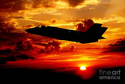 Joint Strike Fighter Digital Art - The New Breed by J Biggadike