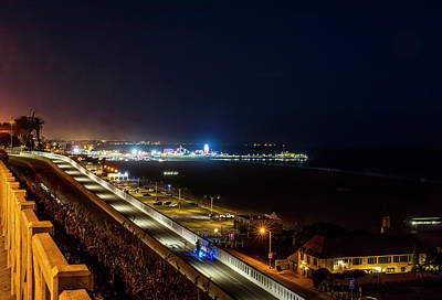 Photograph - The New California Incline - Night by Gene Parks
