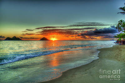 Photograph - The New Day Lanikai Beach Sunrise Hawaii Collection Art by Reid Callaway