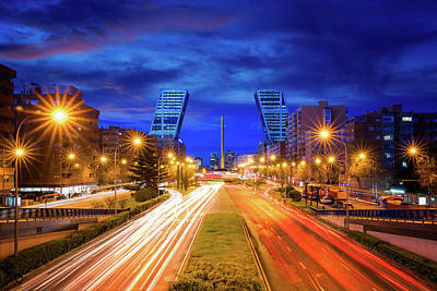 Photograph - The New Economic Center Of Madrid by Anek Suwannaphoom