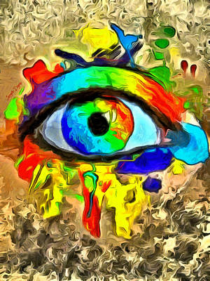 Horus Digital Art - The New Eye Of Horus 2 - Da by Leonardo Digenio