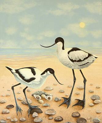 Beach Bird Painting - The New Generation by Pat Scott