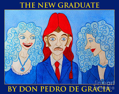 Humourous Painting - The New Graduate by Don Pedro De Gracia