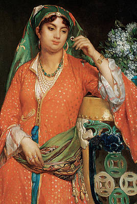 Harem Painting - The New Jewels by Jean Francois Portaels