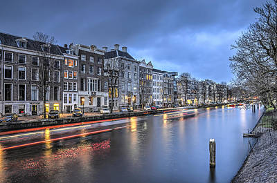 Photograph - The New Lord's Canal, Amsterdam by Frans Blok