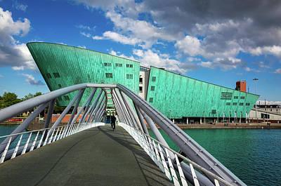 Photograph - The New Metropolis Or Nemo Science Museum In Amsterdam, The Neth by Alfio Finocchiaro