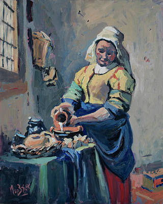 Painting - The New Milkmaid by Nop Briex