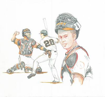 The New Natural Buster Posey Art Print by Phil  King