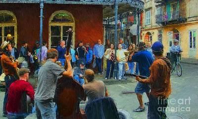 Photograph - The New Orleans Jazz Band by John Kolenberg