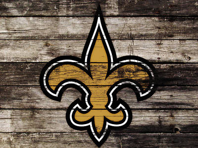The New Orleans Saints 3h     Art Print