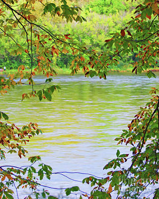 Photograph - The New River And Autumn Leaves by Kerri Farley