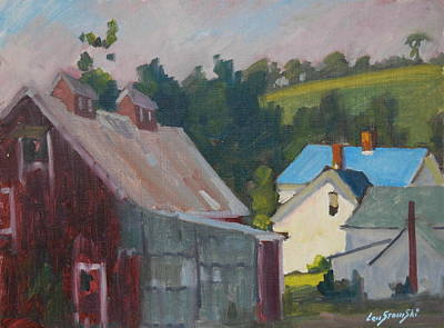 Barn Poster Painting - The New Roof by Len Stomski