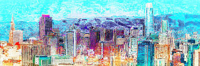 Photograph - The New San Francisco Skyline 20180512 Panorama by Wingsdomain Art and Photography