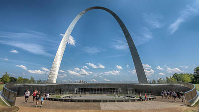 Photograph - The New St. Louis Arch Entry by Susan Rissi Tregoning