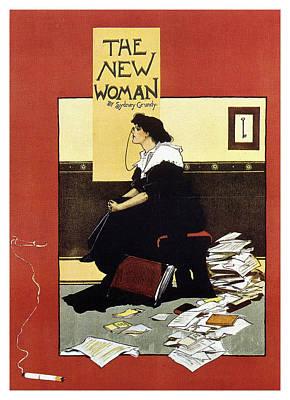 Mixed Media - The New Woman - Sydney Grundy - Magazine Cover - Vintage Art Nouveau Poster by Studio Grafiikka