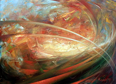 Abstract Artwork Painting - The New Worlds Birth by Arthur Braginsky