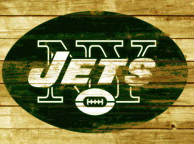 Tebow Mixed Media - The New York Jets 3a by Brian Reaves